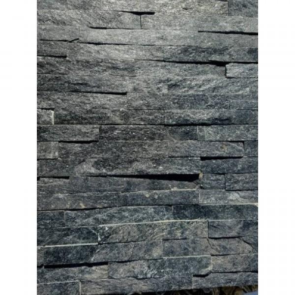 """Akmens panelė """"BLACK QUARTZ"""" 15x60 cm, m2"""